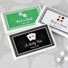 Personalized Las Vegas Themed Mini Mints Wedding Favors
