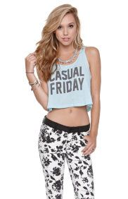 Casual Friday Cropped Tank
