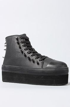 0c4773425ab The Elevation Merk Sneaker in Black by Y.R.U High Top Sneakers