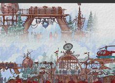 Glacier Bay, Hong Kong Disneyland (never built) - Favilli Studio