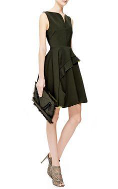 Ruffled V-Neck Dress by Kenzo - Moda Operandi.............................༻נαηιєк༻