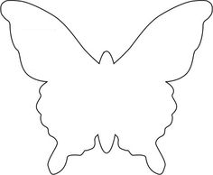 Butterfly Template | Repeat process for each string to create the hanging chandelier ...
