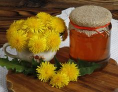 Dandelion Recipes, Honey Chocolate, Home Recipes, Preserves, Jelly, Banana, Herbs, Homemade, Fresh