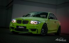 BMW 1-series M Coupe http://autophorie.de/2012/12/17/bmw-1er-m-coupe-irie-green-gefahren/