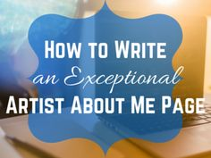 Is your Artist About Me page stalling your art business? Here's how to write a good one by answering 5 easy art questions. About Me Page, Communication, Art Journal Techniques, Business Checks, Business Planner, Selling Art Online, Craft Business, Art Education, Art Lessons