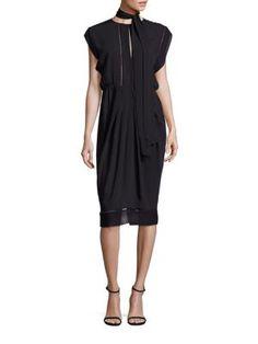 ZIMMERMANN Solid Cape Sleeve Dress. #zimmermann #cloth #dress