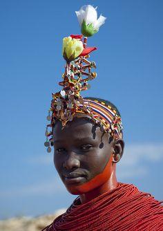 Samburu young girl ready to be married - Kenya