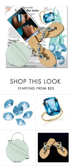 """https://jewelry-for-your-feet.com/collections/jeweled-flats/products/pasha-sao-paulo-aqua-silver"" by azra-v ❤ liked on Polyvore featuring Disney, Blue La Rue, Bloomingdale's and Tammy & Benjamin"
