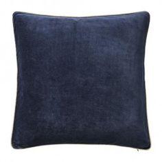 BLOOMINGVILLE Velour Canvas/Navy Cushion