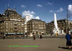 Vintage Kodachrome Slide 1950s Netherlands Holland Amsterdam Damrak Street