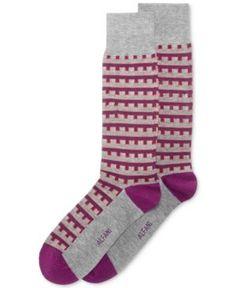 Alfani Men's Building-Stripe Socks, Only at Macy's - Gray