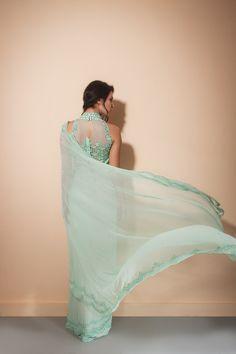 Malasa #Saree, Gorgeous Blouse Back http://www.perniaspopupshop.com/designers-1/malasa