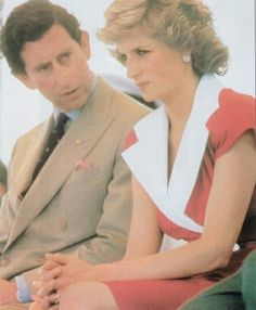 29 January 1988 Goolwa, Australia. Charles looks like he is moaning at Diana again.