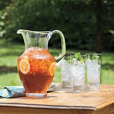 Southern Sweet Tea—Our classic recipe for sweet iced tea, Southern Sweet Tea, is a Southerner's favorite. If you like your iced tea extra sweet, add the full cup of sugar. | SouthernLiving.com