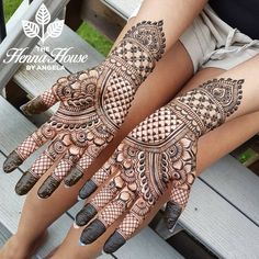 Henna with passion. Stephanie's stunning bridal hands.