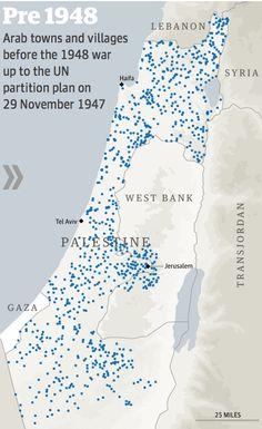 The Arab villages lost since Israel's war of independence - interactive. Changing landscape: go to this link and click through the sequence of maps to show how hundreds of Arab villages and towns were abandoned, attacked and de-populated during Israel's war of independence in 1948 – which is still remembered by Palestinians as their catastrophe or Nakba – http://gu.com/p/3zpp2/tw