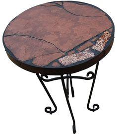 Obicular Jasper 157: a 22 diameter x 20 1/2 tall | Etsy Sandstone Slabs, Black Grout, Steel Rims, Accent Tables, Gems And Minerals, Recycled Materials, Natural Stones, Jasper, Folk Art