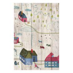 Panneau en bois Citet multicolore  40 x 60 x 3 cm