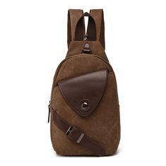 98e320862f Quality Men Versatile Casual Crossbody Bag Leisure Canvas Travel Outdoor  Backpack Online - NewChic Mobile Canvas