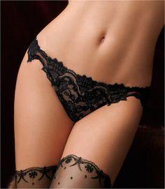 #Sexy Black Sheer Lace #Undies