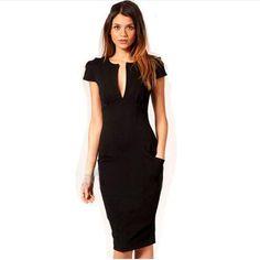 e38a58457 Encontrar Más Vestidos Información acerca de 2016 Summer encanto Sexy  vestido lápiz Celebrity estilo delgado de