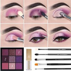 8 Eyeliner Mistakes That Can Completely Ruin Your Look – How To Avoid Them? Makeup Eye Looks, Eye Makeup Steps, Smokey Eye Makeup, Eyeshadow Makeup, Makeup Brushes, Eyeshadow Steps, Makeup Inspo, Makeup Inspiration, Makeup Tips