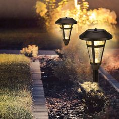 GIGALUMI 6 Pcs Solar Lights Outdoor, Bronze Finshed, Glass Lamp, Waterproof Led Solar Lights for Lawn、Patio、Yard、Garden、Pathway、Walkway and Driveway. Best Solar Garden Lights, Solar Pathway Lights, Outdoor Garden Lighting, Pathway Lighting, Solar Lawn Lights, Landscape Lighting, Outdoor Decorative Lights, Garden Accessories, Lawn And Garden