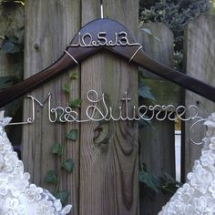 Bride Hanger with Wedding Date #bridal-shower-gift #bridal-shower-gifts #bride-hanger