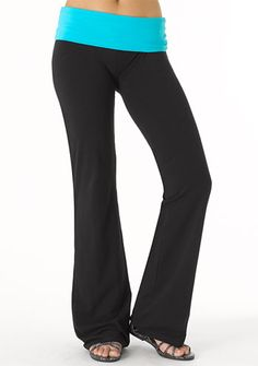 Alloy Contrast Foldover Yoga Pant
