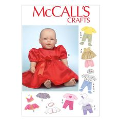 Clothes and Accessories For 11-12 and 15-16 Baby Dolls-One Size Only