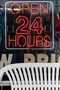 Open 24 Hour Sign by RaymondForbes   Stocksy United
