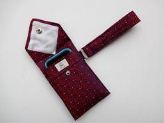 Recycled 3-Pocket Necktie Wristlet Wallet
