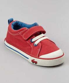 Take a look at this Red Stevie Sneaker by See Kai Run on #zulily today!
