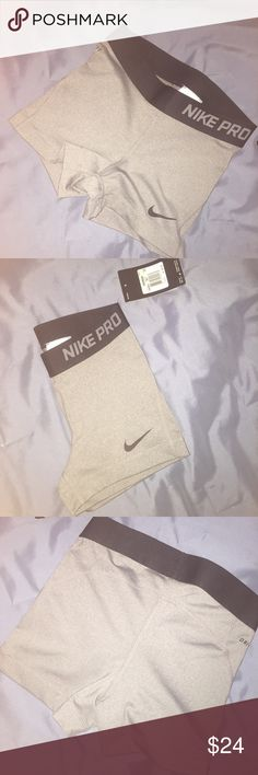 Nike pros 3 inch Grey and black nike pro shorts. These are the 3 inch size xs Nike Shorts