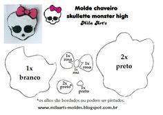 Mila Arts - moldes e PAP: Molde - Skullette Monster High em feltro