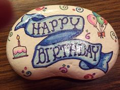 SW Seashell Painting, Pebble Painting, Pebble Art, Stone Painting, Rock Painting, I Got A Rock, My Rock, Rock Art, Painted Pebbles