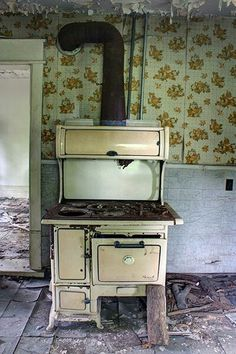 Abandoned Ontario Abandoned Castles, Abandoned Buildings, Abandoned Places, Vintage Appliances, Head And Heart, Haunted Places, Urban Exploration, Faded Glory, Kitchen Furniture