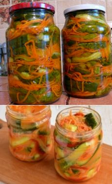 Canning Recipes, Salad Recipes, Marinated Vegetables, Vegan Cafe, Salty Foods, Jam And Jelly, Russian Recipes, Korean Food, Food Design