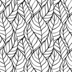 Stock vector of 'Vector illustration Seamless pattern of leaves'