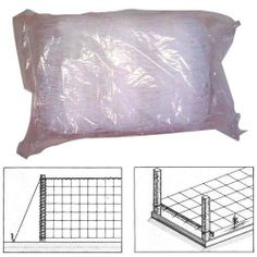 """Tenax Hortonova Trellis 60"""" x 328' by Agriculture Solutions LLC. $79.99. Provides greater exposure to air and sun and reduces ground contact which can result in rotten crops.. When installed in layers, this net encourage air circulation, improve exposure to the sun and optimise the space available.. Horizontal support over flower beds provides perfect stem support for fragile flowers and stems.. Vertical support netting, ideal for growing vegetables that need support like p..."""
