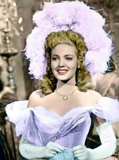 """""""Forever Amber"""", Linda Darnell wearing Joseff Hollywood Jewelry - 1949"""