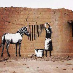 Banksy Zebra