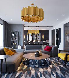 Интерьер квартиры в сером цвете - Фото Дизайн интерьера