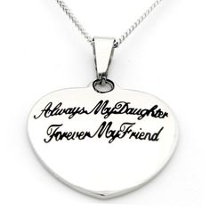 'Always My Daughter, Forever My Friend' Small Heart Pendant, Women's