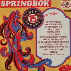 Springbok: Springbok Hit Parade Volume 01 To 30 Lp Cover, Lps, Music Songs, Vinyl Records, Album Covers, Give It To Me, Child, Memories, Cape Town