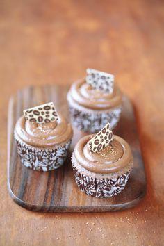 : Chocolate and coffee cupcakes / Cupcakes de chocolate e café