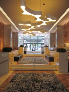 Beautiful #AMEBA pendant lamp by Vibia at Washington Court Hotel Project by #AndersonMiller #ResourceLightingGroup http://www.vibia.com/en/ameba-pendant-lighting/?utm_source=social&utm_medium=pint_pub&utm_campaign=am_washing_court&utm_content=pint_pubutm_term=