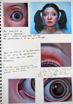 GCSE sketchbook page for Coursework in Art A Level Art Sketchbook, Sketchbook Layout, Artist Sketchbook, Sketchbook Pages, Sketchbook Ideas, Arte Gcse, Ap Studio Art, Art Diary, Ap Art