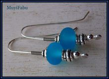 Lampwork Glass and Sterling Silver Stick Earrings