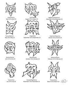 Zodiac Cuss Tattoo Designs by Wolfrunner6996 on deviantART